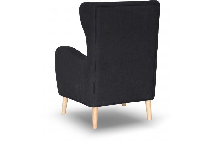 fauteuil scandinave dossier haut tissu noir aquitaine fauteuil design pas cher. Black Bedroom Furniture Sets. Home Design Ideas