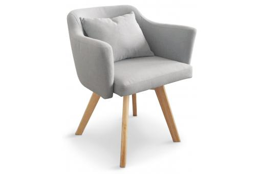 Fauteuil Scandinave gris LAYAL - Salon scandinave