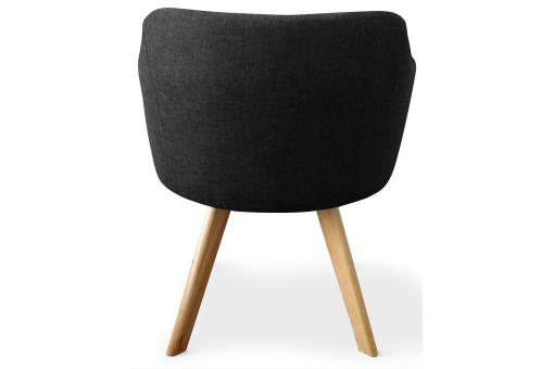 fauteuil scandinave noir layal fauteuil design pas cher. Black Bedroom Furniture Sets. Home Design Ideas