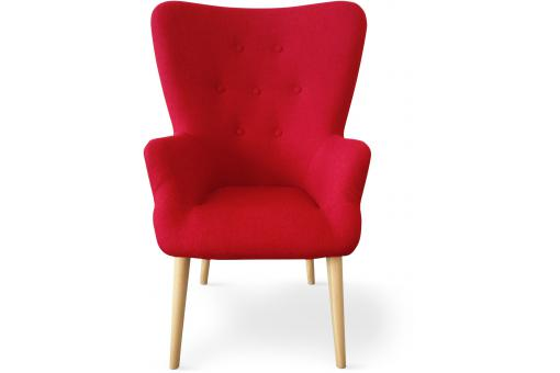 Fauteuil Scandinave Rouge RIVKA