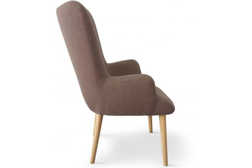 Fauteuil Scandinave Taupe RIVKA