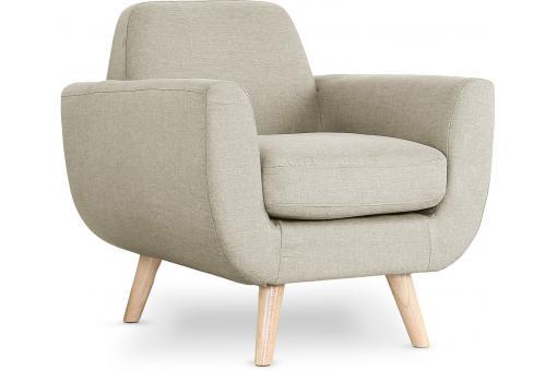 fauteuil scandinave tissu beige telia fauteuil design pas cher. Black Bedroom Furniture Sets. Home Design Ideas