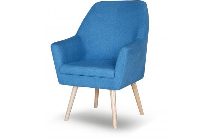 Fauteuil Scandinave Tissu Bleu SIANA Fauteuil Design Pas Cher