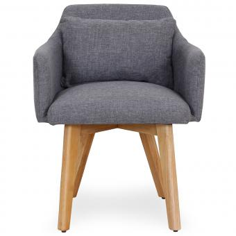 Fauteuil scandinave Tissu Gris clair CHICKY - Fauteuil design