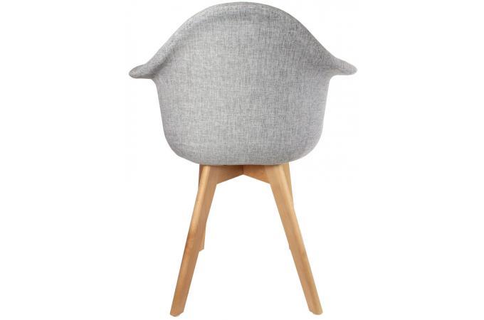 chaise scandinave avec accoudoir tissu gris fjord chaise. Black Bedroom Furniture Sets. Home Design Ideas