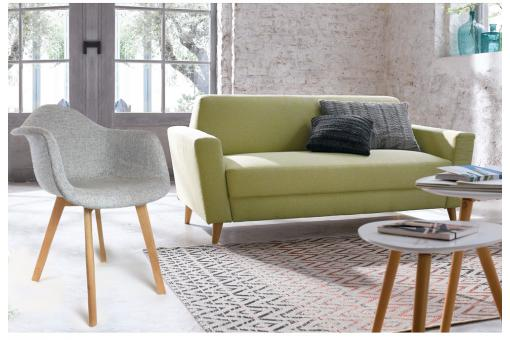 Chaise Scandinave Avec Accoudoir Tissu Gris Fjord Chaise Design