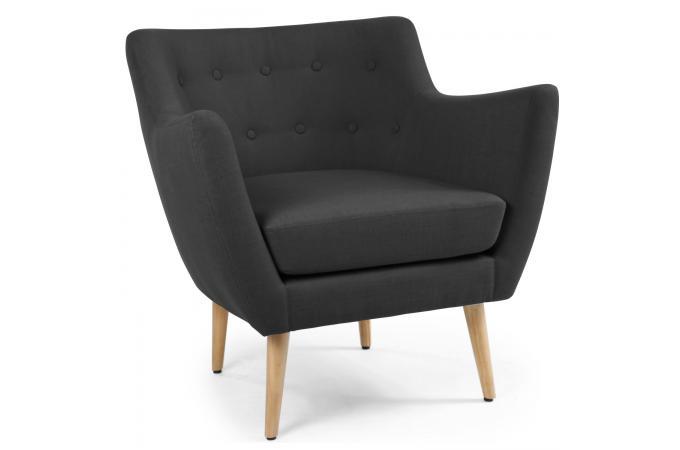 fauteuil scandinave tissu noir riska fauteuil design pas cher. Black Bedroom Furniture Sets. Home Design Ideas