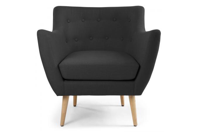 fauteuil scandinave tissu noir riska fauteuil design pas. Black Bedroom Furniture Sets. Home Design Ideas