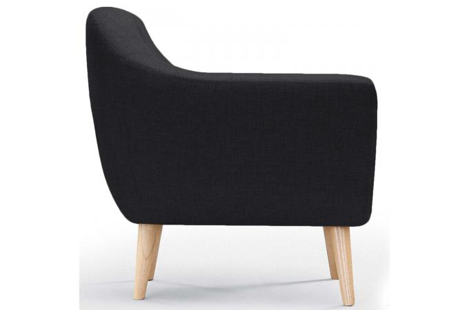 fauteuil scandinave tissu noir fidelio fauteuil design. Black Bedroom Furniture Sets. Home Design Ideas
