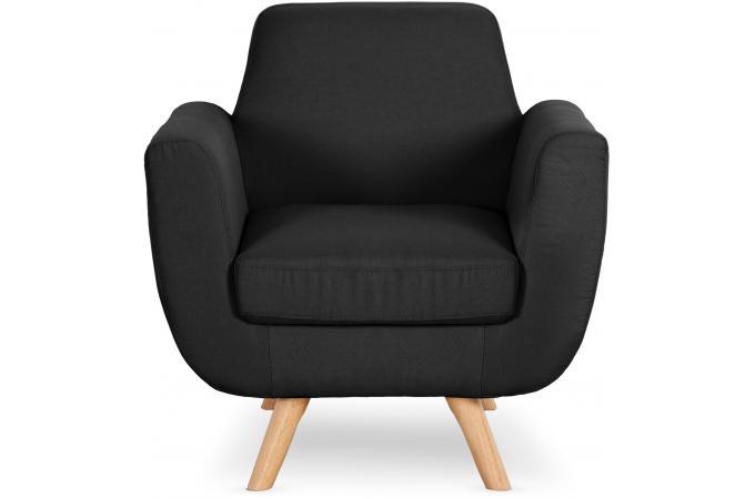 fauteuil scandinave tissu noir telia fauteuil design pas cher. Black Bedroom Furniture Sets. Home Design Ideas