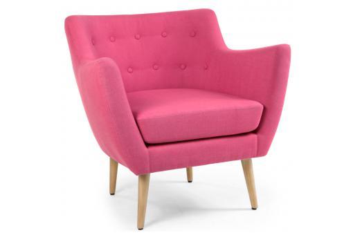 fauteuil scandinave tissu rose riska fauteuil design pas cher. Black Bedroom Furniture Sets. Home Design Ideas