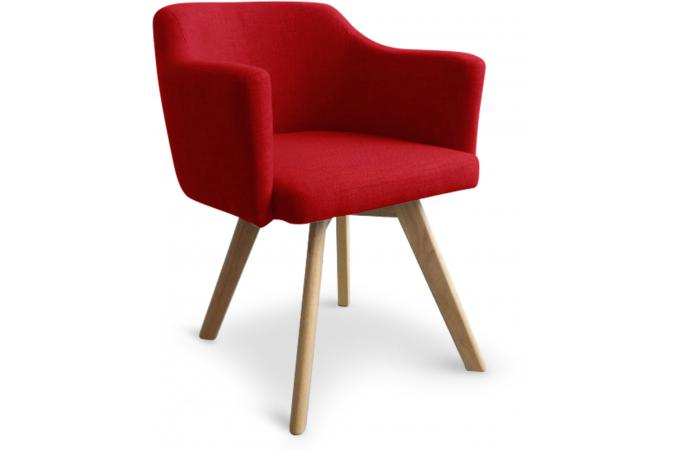 chaise fauteuil scandinave rouge