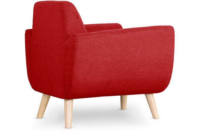 fauteuil scandinave tissu rouge telia fauteuil design pas cher. Black Bedroom Furniture Sets. Home Design Ideas