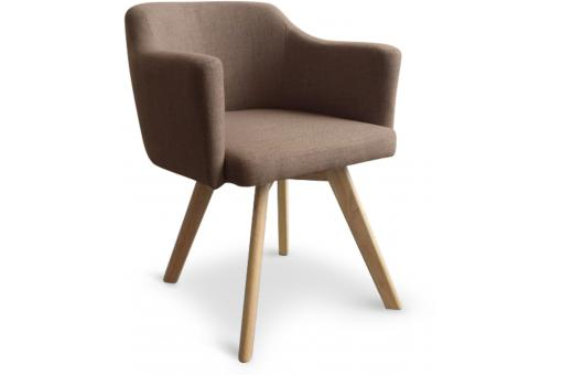 Fauteuil Scandinave Taupe LAYAL - Fauteuil marron design