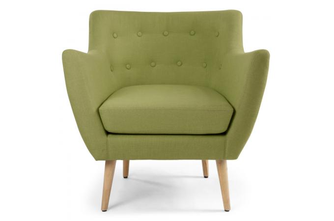 fauteuil scandinave tissu vert riska fauteuil design - Fauteuil Scandinave Enfant