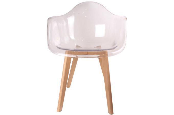 Chaise Scandinave Avec Accoudoir Transparent Fjord Chaise Design