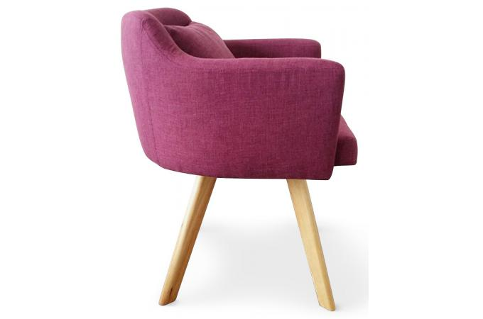 fauteuil scandinave violet layal fauteuil design pas cher. Black Bedroom Furniture Sets. Home Design Ideas