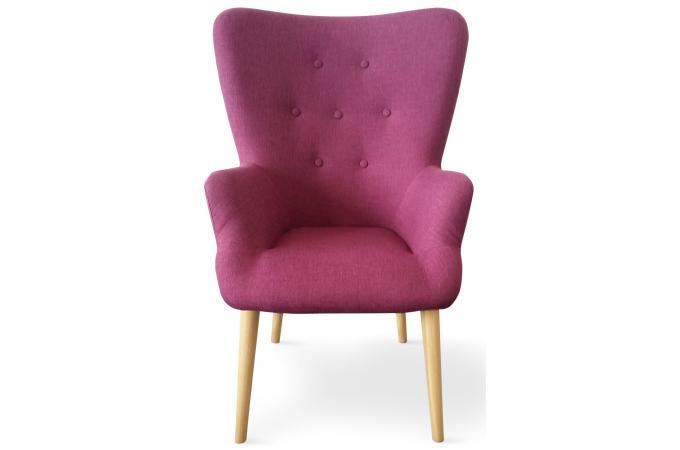 fauteuil scandinave violet rivka fauteuil design pas cher. Black Bedroom Furniture Sets. Home Design Ideas