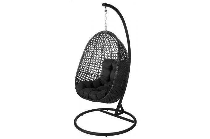 Rotin Fauteuil Suspendu Uovo Chaise Noir Et De Jardin Pas SMVpLqUzGj