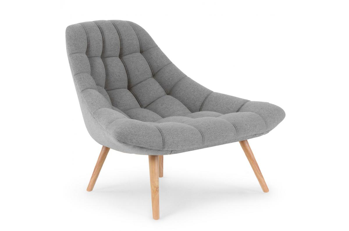 Fauteuil Scandinave Tissu Gris COSAY