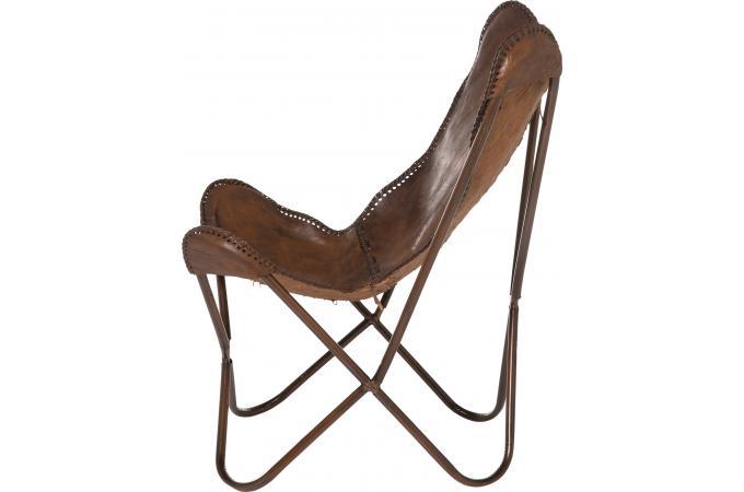 fauteuil transat cuir de vache clarabelle fauteuil design pas cher. Black Bedroom Furniture Sets. Home Design Ideas