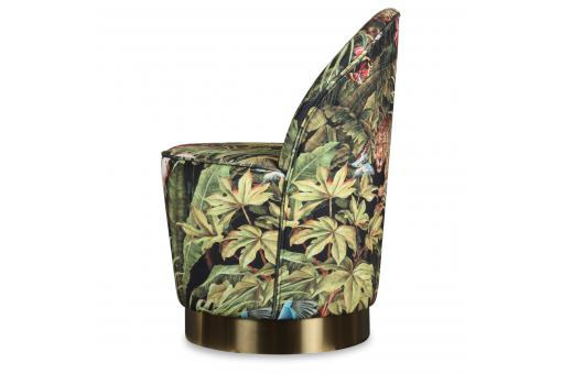 Fauteuil Velours Design Jungle ADAMO