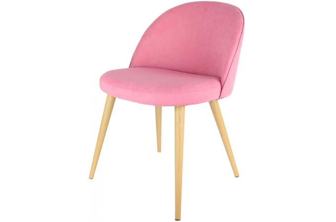 Chaise vintage rose ease chaise design pas cher for Chaise design rose
