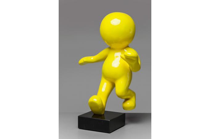 statue d corative manikin jaune statue design pas cher. Black Bedroom Furniture Sets. Home Design Ideas
