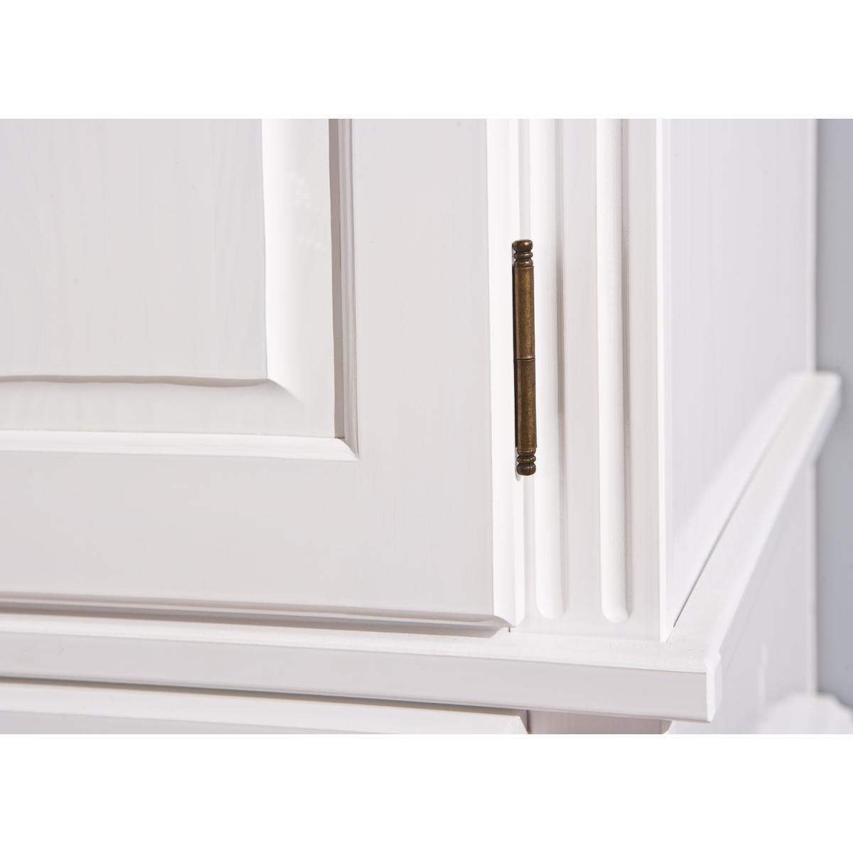 grande armoire en pin massif blanc ritsa  armoire pas cher
