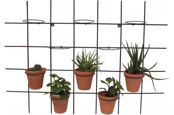 d co murale en m tal pour pots de fleurs gardo mobilier. Black Bedroom Furniture Sets. Home Design Ideas