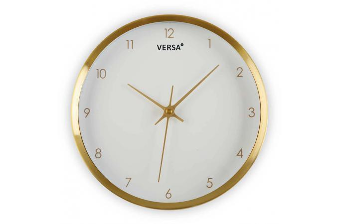 Horloge blanche et dor e decada horloge design pas cher for Horloge blanche design