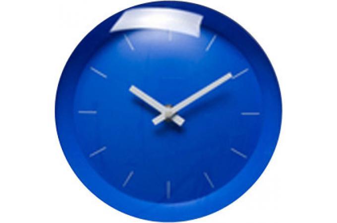 Horloge bleu tictac horloges design pas cher declik deco for Objet deco bleu