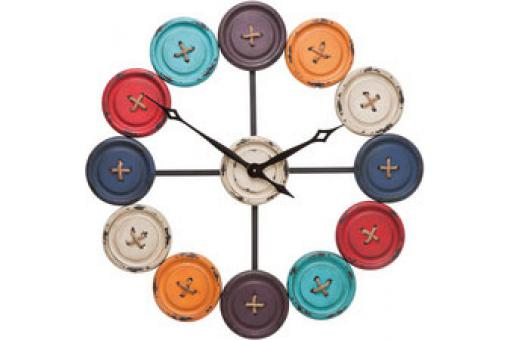 Horloge Boutons Multicolore
