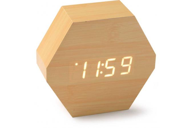 Horloge Digitale LED Hexagonale Beige H10,5 RELOJA - Horloge ...