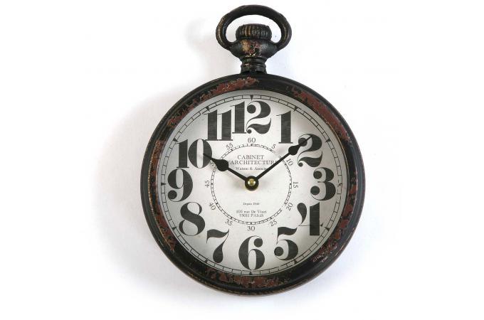 horloge en bois 28x22cm mjesec horloge design pas cher. Black Bedroom Furniture Sets. Home Design Ideas