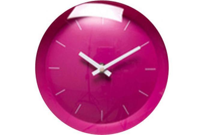 Horloge Fushia Tictac Horloges Design Pas Cher Declik Deco