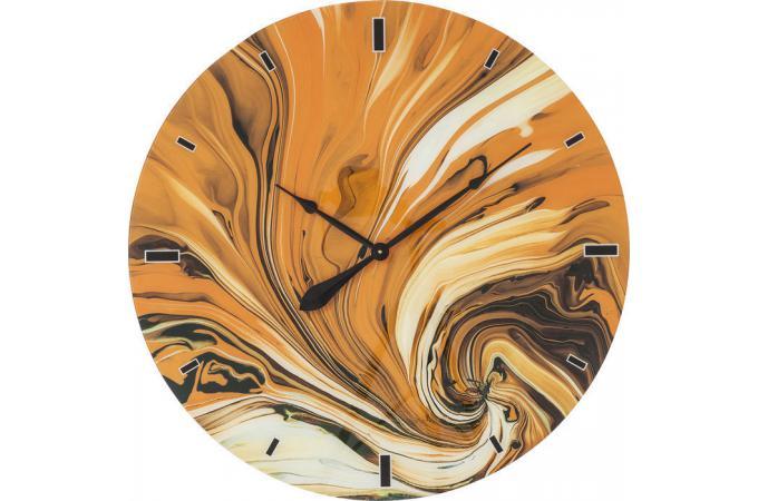 Promo horloge murale kare design en verre impression psych for Castorama horloge
