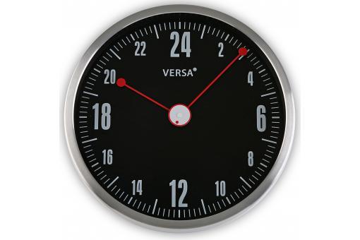 Horloge murale 24h noire et rouge horloge design - Horloge murale geante pas cher ...