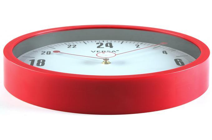 Horloge murale 24h rouge rouge horloge design pas for Horloge murale design pas cher