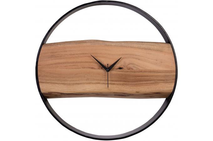 Horloge murale en bois 45 cm rustik horloge design pas cher for Horloge murale design bois