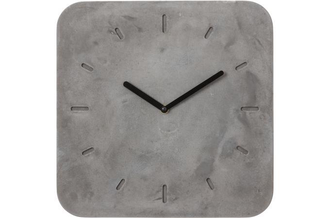 horloge murale avec cadran carr en ciment sureto horloge design pas cher. Black Bedroom Furniture Sets. Home Design Ideas