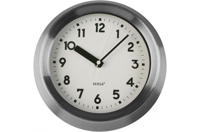 horloge murale cadre m tal argent juliet horloge design pas cher. Black Bedroom Furniture Sets. Home Design Ideas