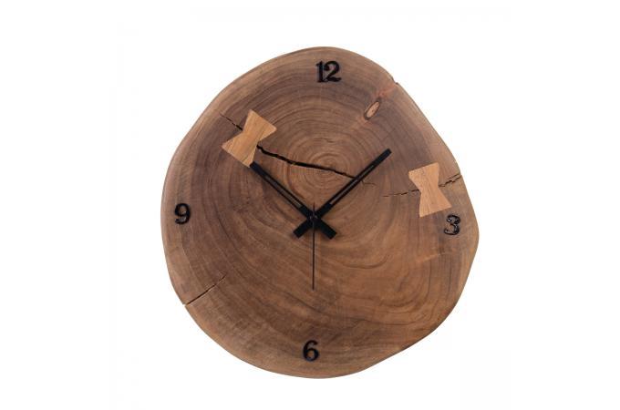 Horloge murale en bois 35 cm rustik horloge design pas cher for Horloge murale design bois