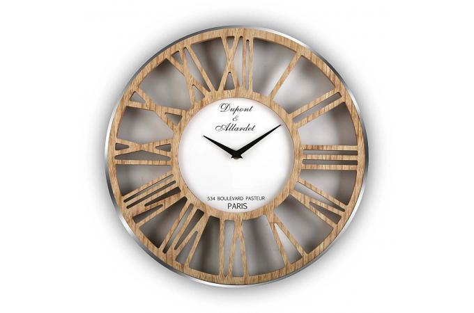 Horloge murale en bois dydy horloge design pas cher for Horloge murale design bois