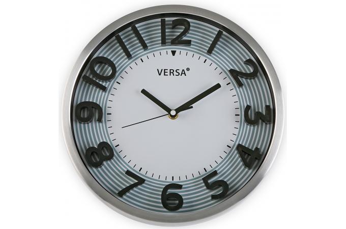 horloge murale blanche contour gris horloge design pas cher