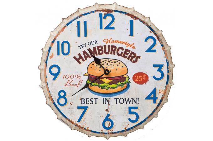 Declikdeco Horloge Murale Kare Design Fast Food Hamburger Supplier Cheap E Deals