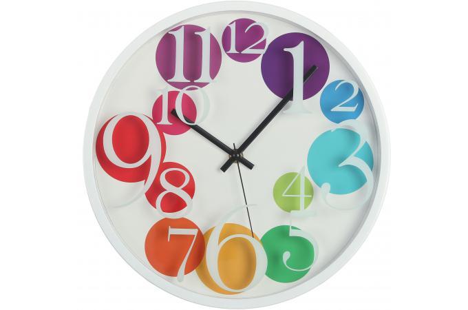 Horloge murale multicolore 30cm bubbles horloge design pas cher for Horloge murale multicolore