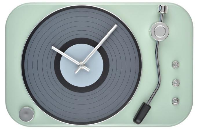 horloge tourne disque vert horloge design pas cher. Black Bedroom Furniture Sets. Home Design Ideas