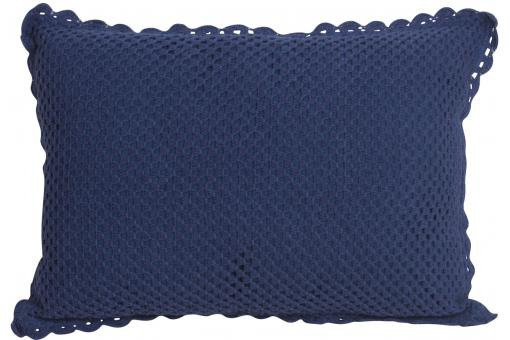 housse de coussin rectangle tricot bleu indigo jules 35x50. Black Bedroom Furniture Sets. Home Design Ideas
