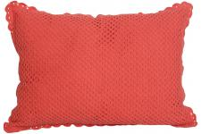 Housse De Coussin Rectangle Tricot Corail Jules 35X50 cm